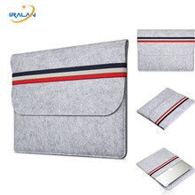 New wool Felt Soft Sleeve Bag Case For Apple Macbook Air Pro Retina 11 12 13 15 Laptop Anti-scratch Cover For Macbook 13.3 inch(China)