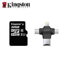 Kingston micro SD Card 64GB 32GB 16GB 128GB Memory Card + 4 in 1 Type-c/Lightning/Micro USB/USB 2.0 Card Reader for iphone PC