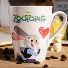 Cute Cartoon Mug Ceramic Coffee Milk Mugs 250ml Creative Design Animal Cup Breakfast Office Couples Water Cups Lovely Gift(China)