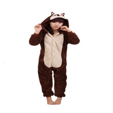Winter Pajamas Long Sleeve Brown Chipmunk Onesie Rompers Womens Jumpsuit Adult Funny Cartoon Cosplay Animal Appropriate Sleeping(China)