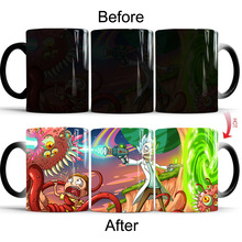 Tv Cartoon Star Rick and Morty Mug Color Changing Cute Mugs Ceramic Milk Tea Office Coffee Mug Cup Best Gift(China)