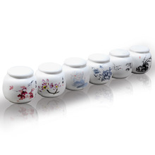 Dehua small tea caddy, tea storage, mini tea pot, ceramic special canisters, puer, oolong jar,wholesale~(China)