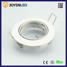 Hot sale Cut hole 70mm down light fixtures recessed LED downlight lamp holder gu10 mr16 circle trim kits(China)