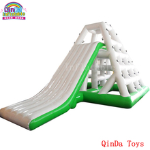 0.9mm pvc inflatable water slide with CE pump,funny cheap inflatable tower slide for adult