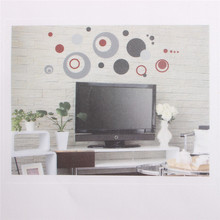 Wall Stickers Colorful Circle Removable Vinyl Decal Art Mural  Home Room Decor free shipping