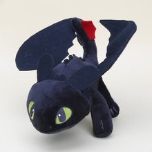 13'' 33cm How to Train Your Dragon Toothless dragon toy Night Fury Plush Toy Stuffed doll Toys Free shipping(China)