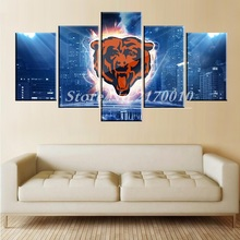 NewModern Home Artwork Poster Picture basketball Canvas Unframed Popular Team Members 5pieces Painting Bedroom Ball Lions