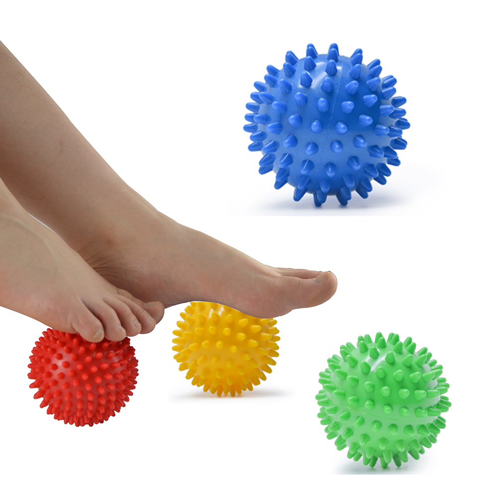 Massage Ball Hand Foot Body Pain Stress Massage Relief Trigger Point Health Care Sport Fitness Hand Foot Pain Relief 7.5cm D0604(China)