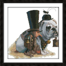 Lead the way cross stitch kit people dog aida 18ct 14ct 11ct count pre stamped DIY hand embroidery set craft handmade needlework(China)