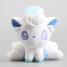 "Anime  Dolls 10 Pcs/Lot Q Version Alola Vulpix Plush Toy Cute Vulpix Soft Stuffed Animals 6""15 cm"