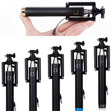 Universal extendable mini Selfie Stick Monopod for Iphone 6s samsung Android IOS Wired Palo Selfie Groove Camera Para