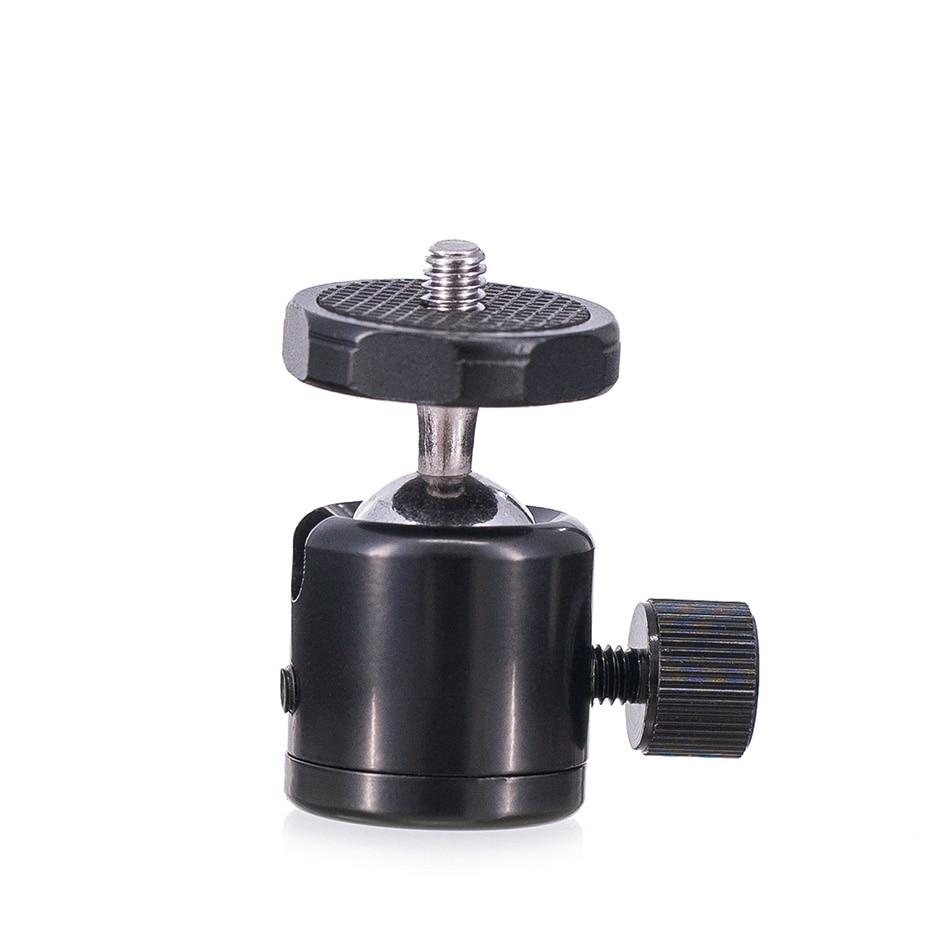 TiYiViRi For Camera Tripod Mini Ball Head Ballhead Tabletop Tripod Stand 14 Hot Shoe Adapter for Canon DSLR Camera Camcorder (7)