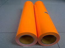 CDU-29 Neon orange color PU cutting plotter and heat transfer or iron on  t-shirt heat transfer film vinyl for textile