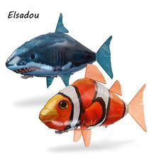 Elsadou RC Air Swimming Fish Toys Drone RC Shark Clown Fish Balloons Nemo Inflatable with Helium Plane kids Toys RC Toys(China)