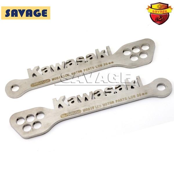 For KAWASAKI ZX6R NINJA 2009-2013 Motorcycle Rear Adjustable Stainless Steel Suspension Drop Link Kits Lowering Links Kit<br>