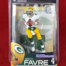 Animation Garage Kid Collection Kids Toys: Action Figure PVC Dolls Rugby NFL Green Bay Packers Brett Favre 4 Model Best Gifts(China)