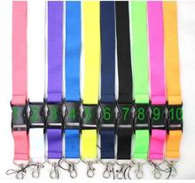 Lot 10 pcs Popular color mixed Removable Mobile Phone Neck Strap Keys Camera ID Card Lanyard Mobile Phone Neck Straps gifts