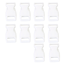 "Wholesale 10pcs 10pcs 5/8"" Side Release Plastic Buckles for 0.6"" Webbing Straps White(China)"