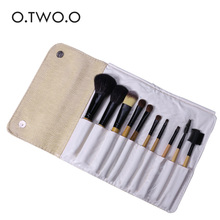 O.TWO.O 10pcs/lot Make Up Brushes Set Foundation Powder Eyeshadow Contour Concealer Blush Cosmetic Beauty Make Up Kits With Bag(China)
