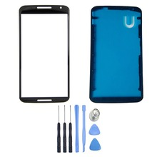 For Motorola Google Nexus 6 Front Screen Outer Glass Lens Panel & Housing LCD Supporting Frame + Free Tools With Tracking Number