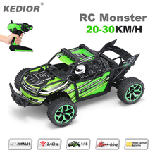 1:18 Highspeed Remote Control Car 20KM/H Speed RC Drift Car 2.4G 4wd off-road buggy with Lipo battery add a gift(China)