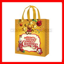 "(100pcs/lot) size W30X34XD12CM(12x13.6x4.8"") wholesale reusable shopping christmas bag(China)"