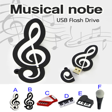 Note USB Flash Drive Musical Instrument Gift USB Flash Drive 4GB 8GB 16GB 32GB 64GB Pendrive USB 2.0 Pen Drive Memory Stick(China)