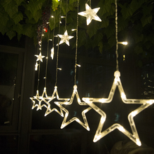 2m 138leds led Christmas Lights EU AC220v LED Star Curtain Light Holiday lights for Party/New year Decorationv Christmas Lights(China)