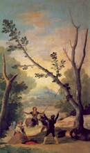 Free shipping 100% hand painted most famous artists painting reproduction goya oil painting The-Swing