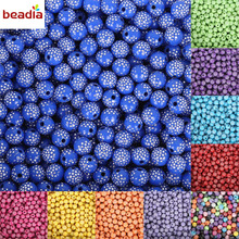 New Arrival 100 piece/lot 8mm Bright Shiny Round Acrylic Loose Spacer DIY Beads For Jewelry Findings Jewelry making Bracelet(China)