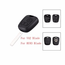 FGHGF 2 Buttons Remote Car Key Case Shell Fob For Citroen C1 C2 C3 Pluriel C4 C5 C8 Xsara Picasso Cover With Logo without Blade