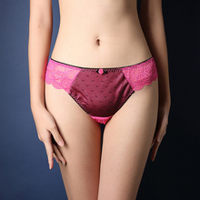 Buy Sexy Plus Size Thong Women Lace Mesh Panties Floral Sheer Briefs Lady 2017 Low Waist Hollow Underwear Transparent Knickers M-3XL