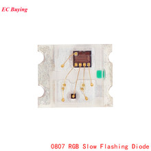 100Pcs 0807 RGB SMD Led Lamp 0805 RGB Slow Flashing Diode Colorful Diodes Flash DIY(China)