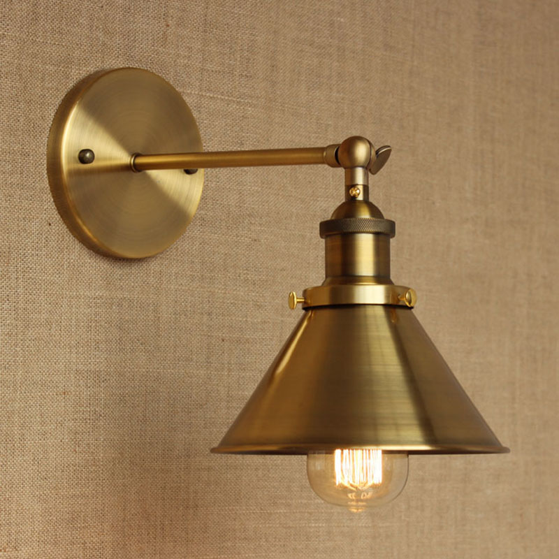 modern LOFT Bronze metal country adjust  wall lamp for Bar Bathroom study bedroom diningroom foyer Vanity Lights E27 110-220V<br>
