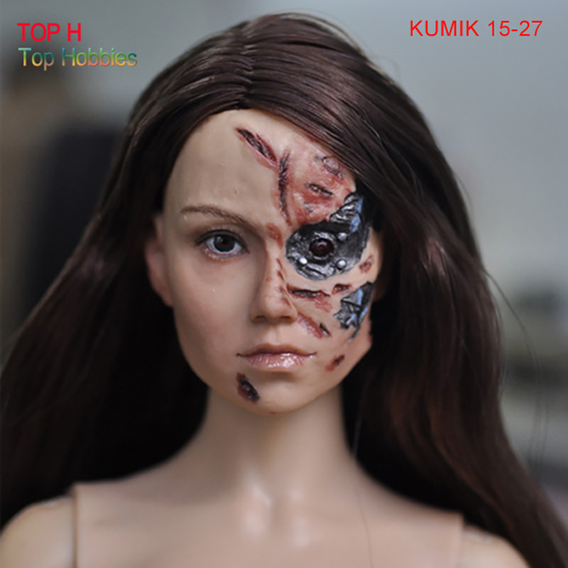 Kumik 15-27 Female Girl 1/6 Head Carving Soldiers accessories for 12 Inch Phicen HT TTL Action Figures DIY<br>