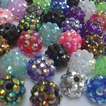 10MM mixed white Chunky Resin Rhinestone Beads Bling Ball Beads Chunky Kid  Jewelry Wives DIY Finding b7da0f2a0084
