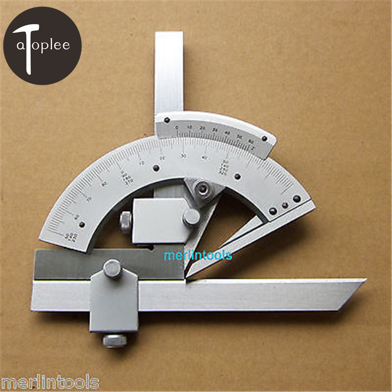 Atoplee 1PCS 320 Degree Universal Bevel Protractor With Package Angular Dial Length 150mm Caliper Measureing Tools<br>