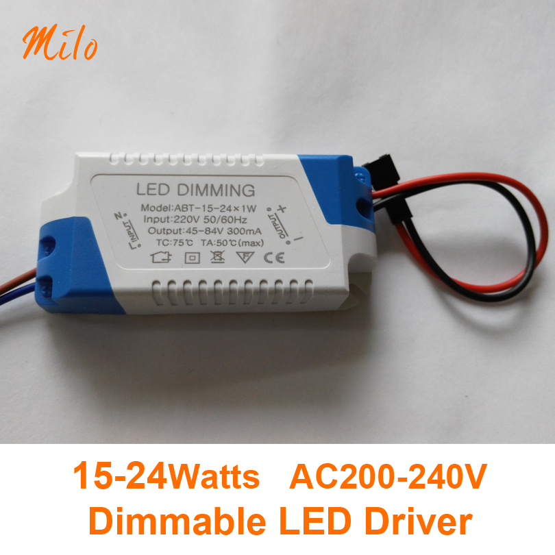 15W 16W 18W 20W 22W 24W SCR dimming LED Driver, dimmable led transformer, Input:AC200-240V,Output:DC45-84V 300mA(China (Mainland))