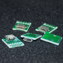 5pcs Micro USB to DIP 2.54mm Adapter Connector Module Board Panel Female 5-Pin Pinboard 2.54mm Micro USB PCB Type Parts