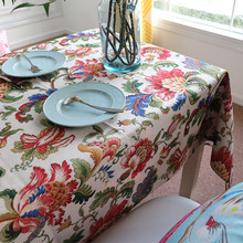 Wholesale American style Round Table Cloth Rural Pastoral Table Cloth Soft Stylish Table  Cloth Creative Comfortable Tea Cloth