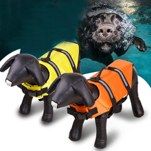 Dog Cat Clothes Life Jacket PET Life Vest with Chin Float for Large Dog High Buoyancy Secure Life Preserver Ripstop Life Jacket(China)