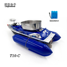 2016 Newest T10-C Remote Control 8 Hours/9600MAH Bait Fishing Boat 280M Remote Fish Finder Boat Wireless Fishing Lure Boat(China)