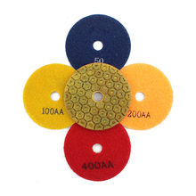 5 Step 100mm Metal Diamond Polishing Pads 4inch Grit50#-500# Metal Wet Polishing Diamond Granit Marble Concrete Processing(China)
