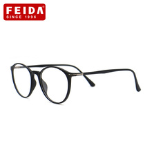 FEIDA Brand Eyeglasses Women Branded Designer TR90 Titanium Frame Ultra-Light Vintage eyeglasses men eyeglasses Frame YX0382(China)
