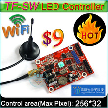 2017 HOT  WIFI control card,TF-SW P10 LED Module Panel LED sign control card, Suitable for single&double color