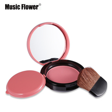 6 Colours Music Flower Brand New Makeup Mineral Powder Blush Palette Face Bronzer Blusher Cheek Maquiagem Cosmetics Silky Smooth(China)