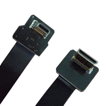 90 Degree Angled FPV Micro HDMI Male to Mini HDMI FPC Soft Flat Cable 30cm for Gopro 3+ 4 3-axis Handheld Brushless Gimbal(China)