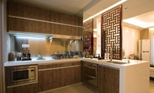 Wooden cupboards for kitchen
