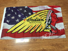 MC Flag custom Motorcycle Club BIKER Indian MOTOCYCLES Flag hot sell goods 3X5FT 150X90CM Banner brass metal holes