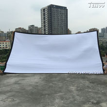 Factory Sales! 200 Inches 16:9 Portable Folded HD Projector Screen Front Projection White Canvas Fabric Eyelets no Frame/Stand(China)